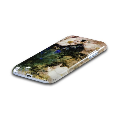White Lillies Asian Print Series Slim Hard Case for Samsung Galaxy Note 2 Geeks Designer Line