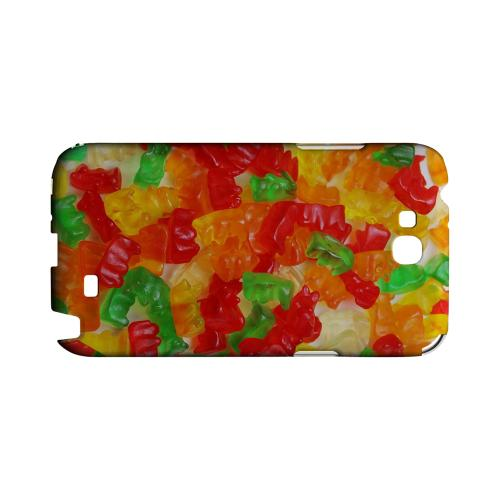 Multi-Colored Gummy Bears Geeks Designer Line Candy Series Slim Hard Back Cover for Samsung Galaxy Note 2