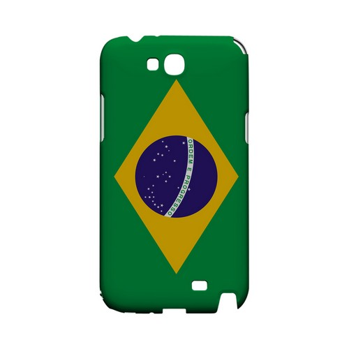 Brazil Geeks Designer Line Flag Series Slim Hard Case for Samsung Galaxy Note 2