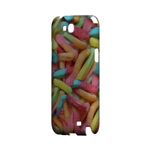 Multi-Colored Gummy Worms Geeks Designer Line Candy Series Slim Hard Back Cover for Samsung Galaxy Note 2