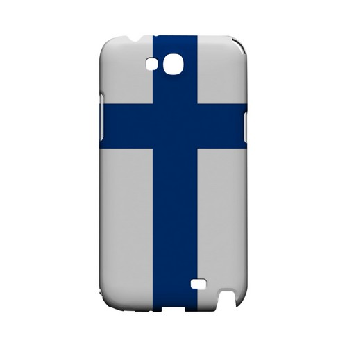 Finland Geeks Designer Line Flag Series Slim Hard Case for Samsung Galaxy Note 2