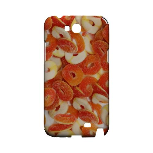 Orange/White Gummy Rings Geeks Designer Line Candy Series Slim Hard Back Cover for Samsung Galaxy Note 2