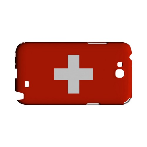 Switzerland Geeks Designer Line Flag Series Slim Hard Case for Samsung Galaxy Note 2