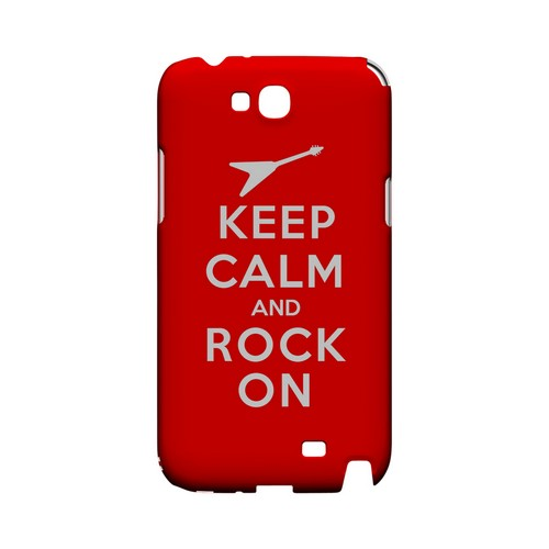 Red Rock On Geeks Designer Line Keep Calm Series Slim Hard Case for Samsung Galaxy Note 2