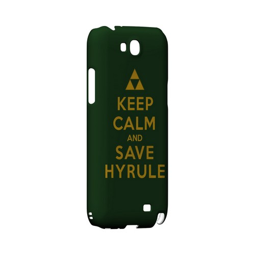 Green Save Hyrule Geeks Designer Line Keep Calm Series Slim Hard Case for Samsung Galaxy Note 2