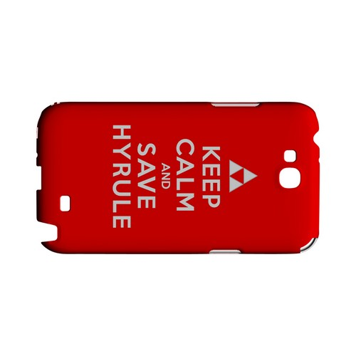 Red Save Hyrule Geeks Designer Line Keep Calm Series Slim Hard Case for Samsung Galaxy Note 2