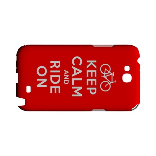Red Ride On Geeks Designer Line Keep Calm Series Slim Hard Case for Samsung Galaxy Note 2
