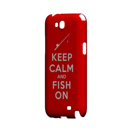 Red Fish On Geeks Designer Line Keep Calm Series Slim Hard Case for Samsung Galaxy Note 2