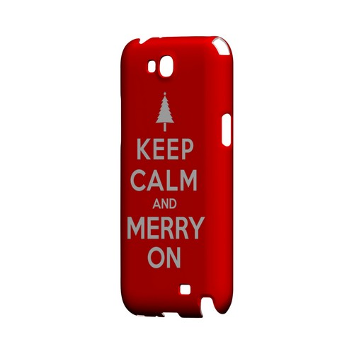 Red Merry On Geeks Designer Line Keep Calm Series Slim Hard Case for Samsung Galaxy Note 2