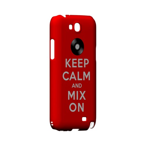 Red Mix On Geeks Designer Line Keep Calm Series Slim Hard Case for Samsung Galaxy Note 2