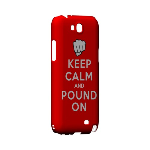 Red Pound On Geeks Designer Line Keep Calm Series Slim Hard Case for Samsung Galaxy Note 2