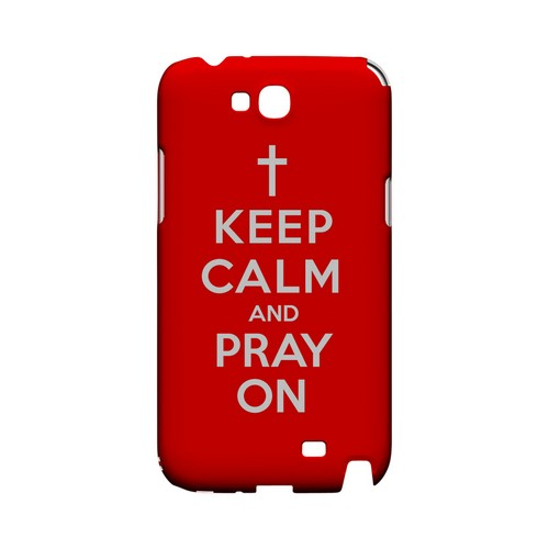 Red Pray On Geeks Designer Line Keep Calm Series Slim Hard Case for Samsung Galaxy Note 2