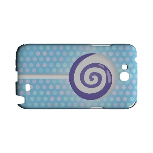 Purple Lollipop Geeks Designer Line Candy Series Slim Hard Back Cover for Samsung Galaxy Note 2