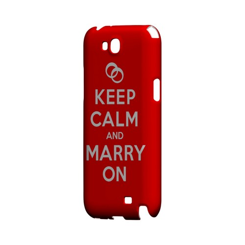 Red Marry On Geeks Designer Line Keep Calm Series Slim Hard Case for Samsung Galaxy Note 2