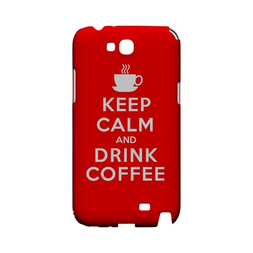Red Drink Coffee Geeks Designer Line Keep Calm Series Slim Hard Case for Samsung Galaxy Note 2