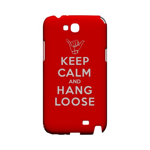 Red Hang Loose Geeks Designer Line Keep Calm Series Slim Hard Case for Samsung Galaxy Note 2