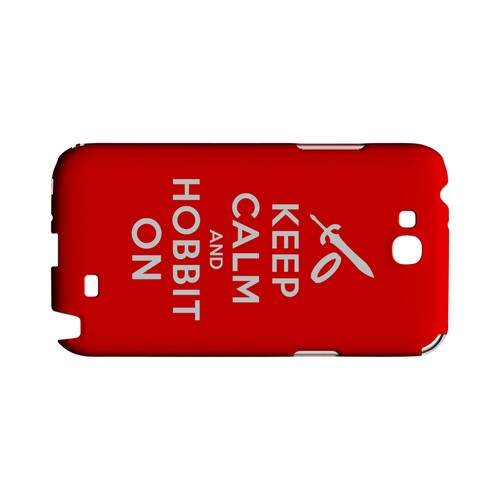 Red Hobbit On Geeks Designer Line Keep Calm Series Slim Hard Case for Samsung Galaxy Note 2