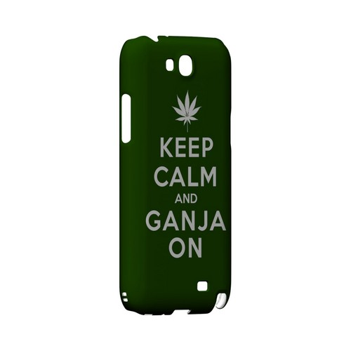 Green Ganja On Geeks Designer Line Keep Calm Series Slim Hard Case for Samsung Galaxy Note 2