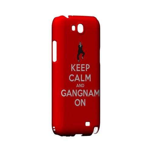 Red Gangnam On Geeks Designer Line Keep Calm Series Slim Hard Case for Samsung Galaxy Note 2