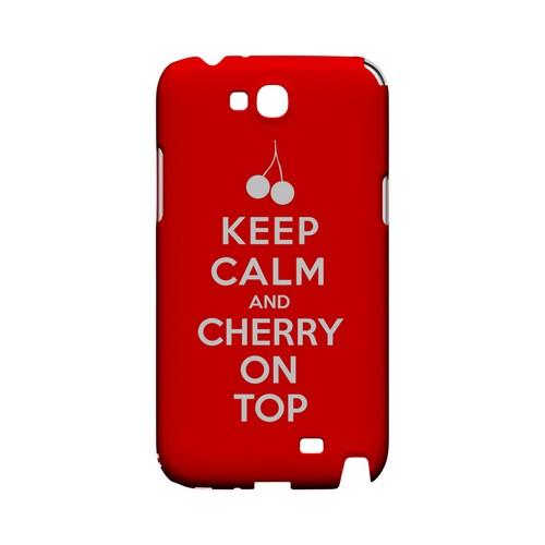 Red Cherry On Top Geeks Designer Line Keep Calm Series Slim Hard Case for Samsung Galaxy Note 2