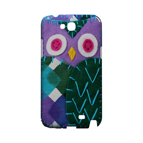 Purple/ Green Owl Geek Nation Program Exclusive Jodie Rackley Series Hard Case for Samsung Galaxy Note 2