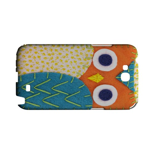 Orange/ Blue Owl Geek Nation Program Exclusive Jodie Rackley Series Hard Case for Samsung Galaxy Note 2