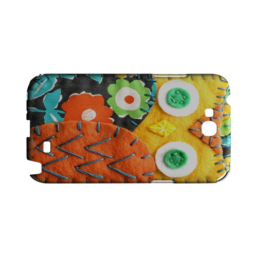 Yellow/ Orange Owl Geek Nation Program Exclusive Jodie Rackley Series Hard Case for Samsung Galaxy Note 2