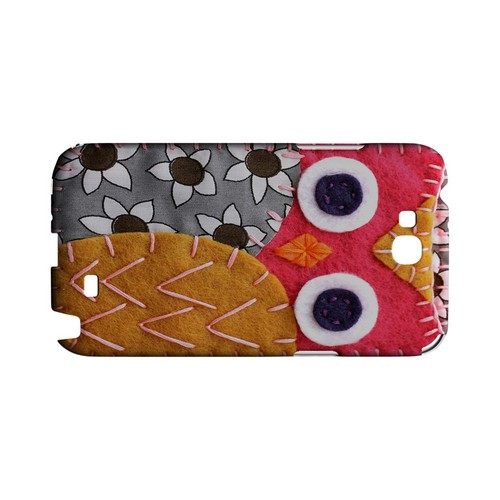 Hot Pink/ Dark Blue Owl Geek Nation Program Exclusive Jodie Rackley Series Hard Case for Samsung Galaxy Note 2