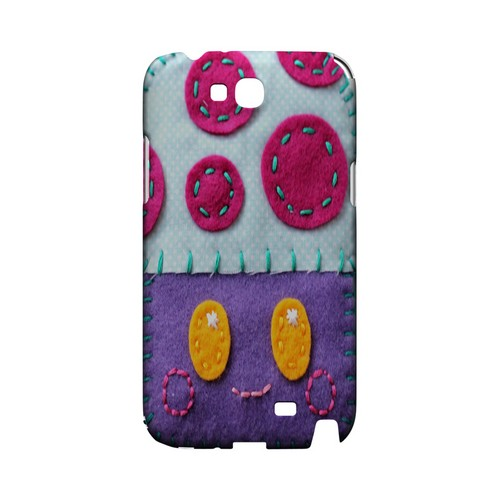 Purple/ Pink Mushroom Geek Nation Program Exclusive Jodie Rackley Series Hard Case for Samsung Galaxy Note 2