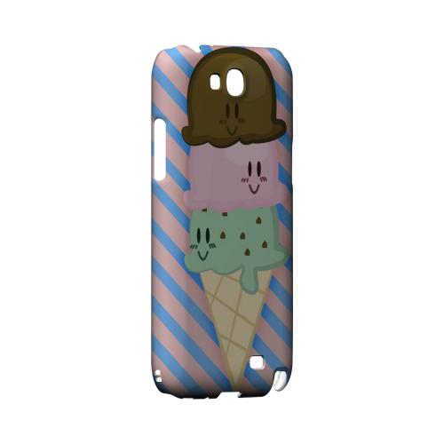 Triple Scoop Ice Cream Cone Geeks Designer Line Candy Series Slim Hard Back Cover for Samsung Galaxy Note 2