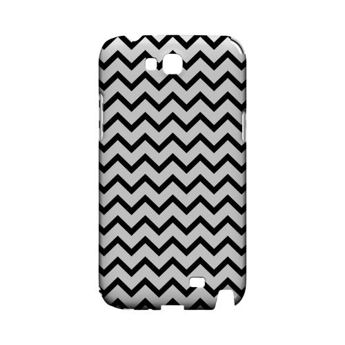 Black on White Geeks Designer Line Zig Zag Series Slim Hard Case for Samsung Galaxy Note 2