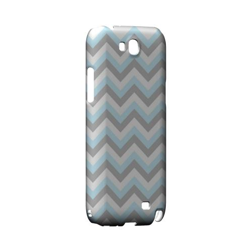 Blue on Gray on White Geeks Designer Line Zig Zag Series Slim Hard Case for Samsung Galaxy Note 2