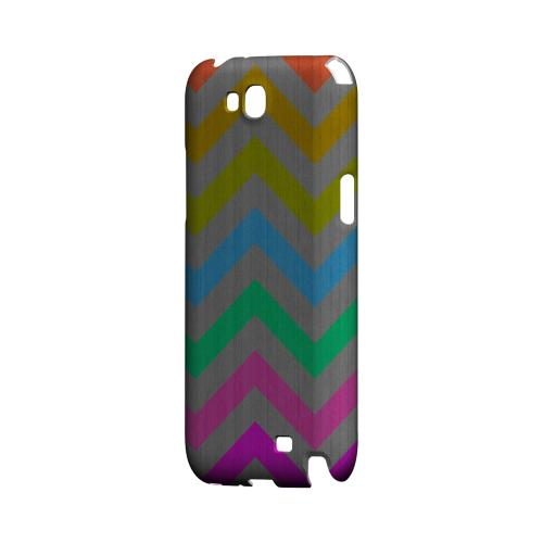 Grungy Multi-Colors on Gray Geeks Designer Line Zig Zag Series Slim Hard Case for Samsung Galaxy Note 2