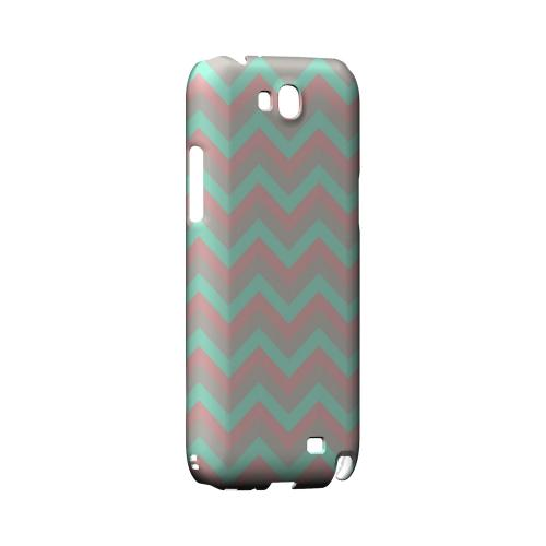 Green on Pink on Gray Geeks Designer Line Zig Zag Series Slim Hard Case for Samsung Galaxy Note 2