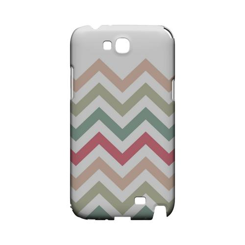 Green/ Red on White Geeks Designer Line Zig Zag Series Slim Hard Case for Samsung Galaxy Note 2