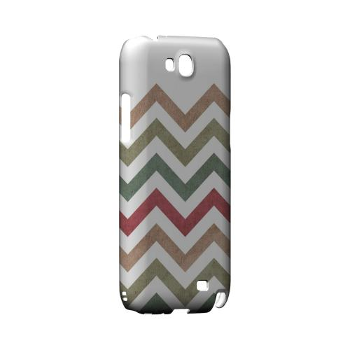 Grungy Green/ Red on White Geeks Designer Line Zig Zag Series Slim Hard Case for Samsung Galaxy Note 2