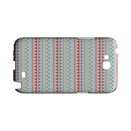Multi-Shapes & Colors on White Geeks Designer Line Zig Zag Series Slim Hard Case for Samsung Galaxy Note 2