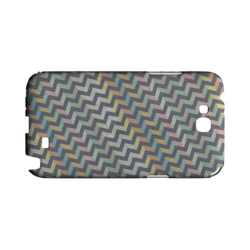Grungy Pastel Steps Geeks Designer Line Zig Zag Series Slim Hard Case for Samsung Galaxy Note 2