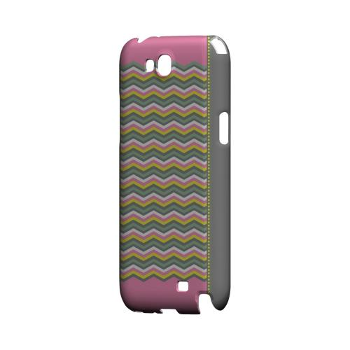 Green/ Yellow Dots w/ Pink & Gray Geeks Designer Line Zig Zag Series Slim Hard Case for Samsung Galaxy Note 2