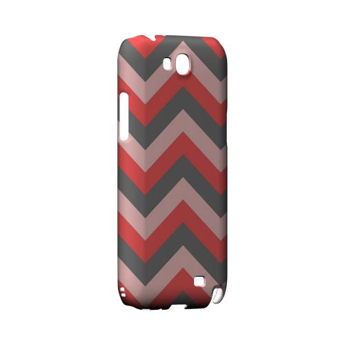 Red on Gray on Pink Geeks Designer Line Zig Zag Series Slim Hard Case for Samsung Galaxy Note 2
