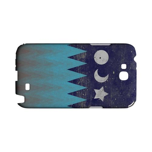 Sun Moon Star Geeks Designer Line Zig Zag Series Slim Hard Case for Samsung Galaxy Note 2
