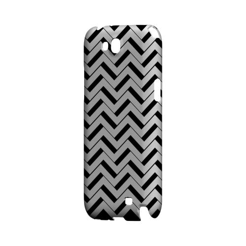Black/ White 3D Geeks Designer Line Zig Zag Series Slim Hard Case for Samsung Galaxy Note 2