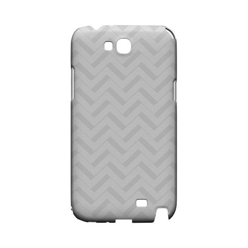 Light Gray/ White 3D Geeks Designer Line Zig Zag Series Slim Hard Case for Samsung Galaxy Note 2