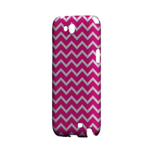White on Hot Pink Geeks Designer Line Zig Zag Series Slim Hard Case for Samsung Galaxy Note 2