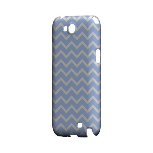 White on Light Blue Geeks Designer Line Zig Zag Series Slim Hard Case for Samsung Galaxy Note 2
