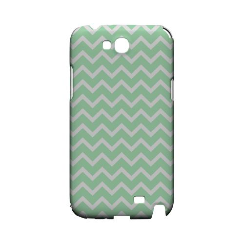 White on Mint Geeks Designer Line Zig Zag Series Slim Hard Case for Samsung Galaxy Note 2