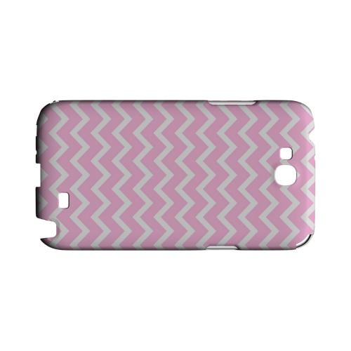 White on Pink Geeks Designer Line Zig Zag Series Slim Hard Case for Samsung Galaxy Note 2
