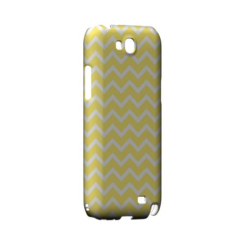 White on Yellow Geeks Designer Line Zig Zag Series Slim Hard Case for Samsung Galaxy Note 2