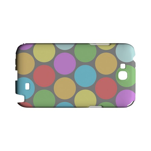 Big & Rainbow on Gray Geeks Designer Line Polka Dot Series Slim Hard Case for Samsung Galaxy Note 2