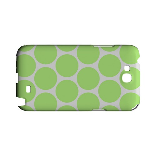 Big & Lime Green Geeks Designer Line Polka Dot Series Slim Hard Case for Samsung Galaxy Note 2